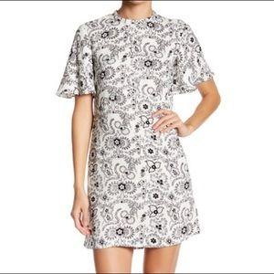 ALC size 6 black & white silk dress
